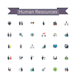Human Resources Flat Icons vector image vector image