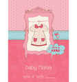 baby girl arrival card with place for your text in vector image