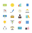 Business and Finance Flat Icons color vector image vector image