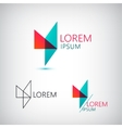 abstract geometric triangle logo vector image