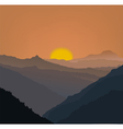 Beige mountains vector image