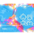Creative puzzle Art template vector image