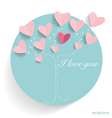 Cute card with hearts vector image