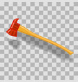 firefighter axe icon vector image