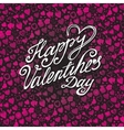 Happy Valentines day card with pink Heart pattern vector image