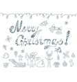 Set of Christmas Doodles Element vector image