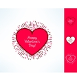 Set of valentines hearts on tribal outburst vector image