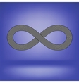 Striped Infinity Icon vector image