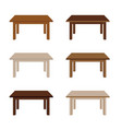 table wooden set vector image