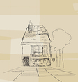 Romanian house sketch vector image