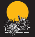 Halloween zombie night vector image