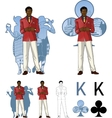 King of clubs afroamerican male party host with vector image vector image