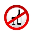stop alcohol sign vector image