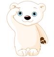 Polar Bear Salute vector image
