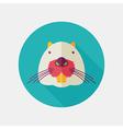 Otter beaver flat icon Animal head vector image
