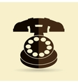 old phone design vector image
