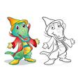 Fantasy mascot crocodile cartoon vector image