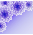 Beautiful background with violet flower vector image