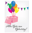 Birthday postcard with happy birthday vector image