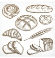 Bread sketches hand drawing vector image