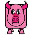 cube pig vector image