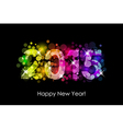 Happy New Year - 2015 colorful background vector image