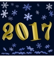 New year Gold 2017 vector image