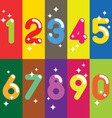 Numbers colorful set vector image