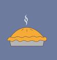 Pie dessert icon vector image