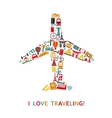 Plane from travel icons vector image