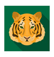 tiger icon in flat style isolated on white vector image