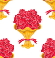 Vintage roses bouquet seamless pattern vector image