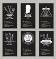 Visiting card design barbershop vector image