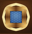 window with arabic pattern for islamic greeting vector image