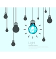 Light bulbs background industrial science idea vector