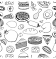 Colorful hand drawn food vector image