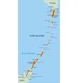 Kuril island vector image vector image