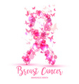 Breast cancer awareness concept pink ribbon vector image