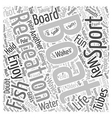 Boating Recreation Sports Word Cloud Concept vector image