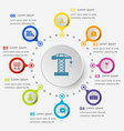 infographic template with construction icons vector image