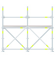 colored flat style scaffolding vector image