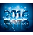 Blue 2016 happy new year background with sparkle vector image