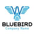 Blue Bird Design vector image