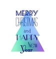 Christmas and New Year card design vector image