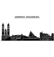 germany magdeburg architecture city vector image
