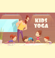 kids yoga training vector image