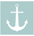 marine anchor the white color icon vector image