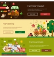 Set of modern flat design farm and agriculture vector image