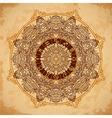 ornate mandala zodiac circle with horoscope signs vector image
