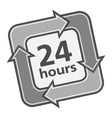 24 Hours Badge vector image vector image